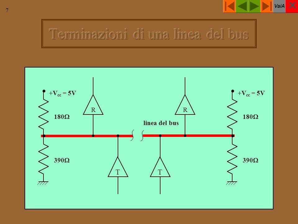 VaiA 7 linea del bus +V cc = 5V 390 180 +V cc = 5V 390 180 TT RR