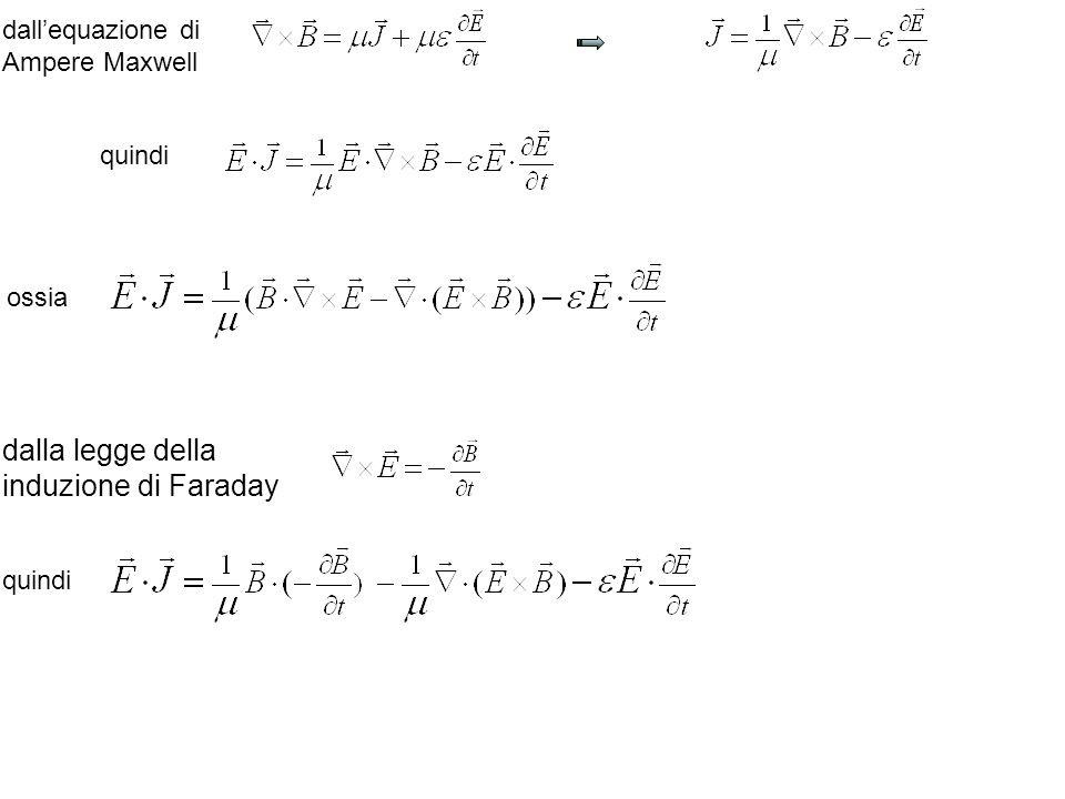 dallequazione di Ampere Maxwell quindi ossia dalla legge della induzione di Faraday quindi