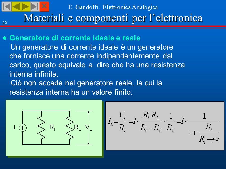 Materiali e componenti per lelettronica E.