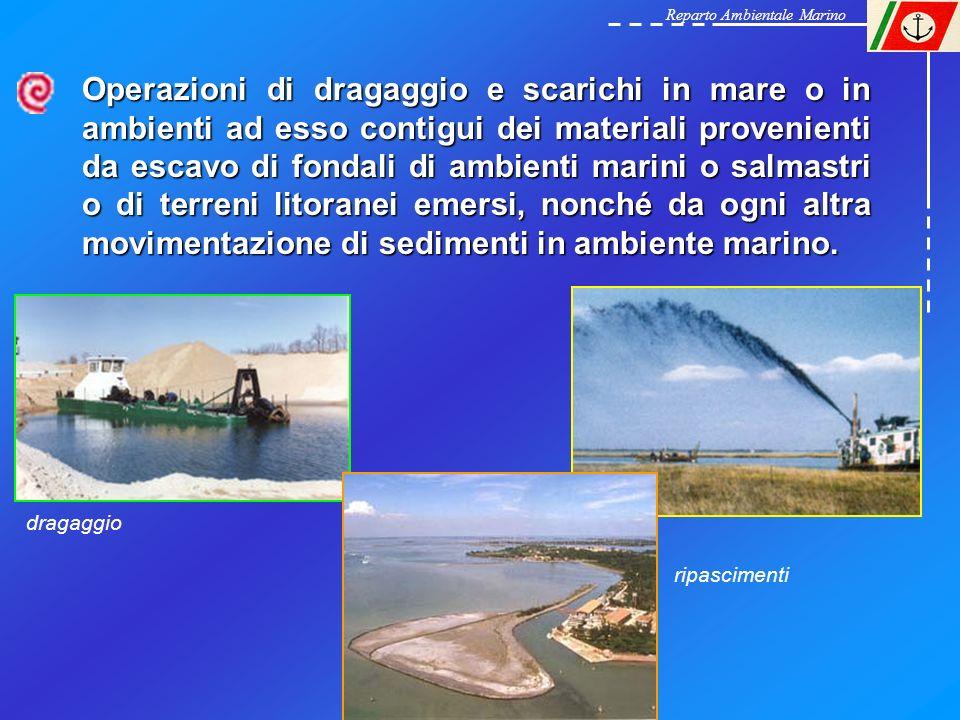 Operazioni di dragaggio e scarichi in mare o in ambienti ad esso contigui dei materiali provenienti da escavo di fondali di ambienti marini o salmastr