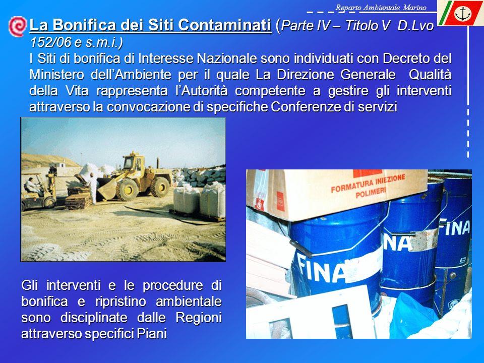 La Bonifica dei Siti Contaminati ( Parte IV – Titolo V D.Lvo 152/06 e s.m.i.) I Siti di bonifica di Interesse Nazionale sono individuati con Decreto d
