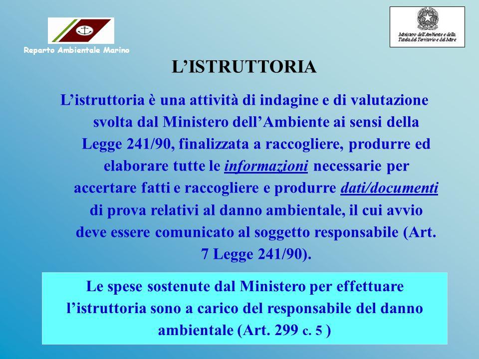LISTRUTTORIA Listruttoria è una attività di indagine e di valutazione svolta dal Ministero dellAmbiente ai sensi della Legge 241/90, finalizzata a rac