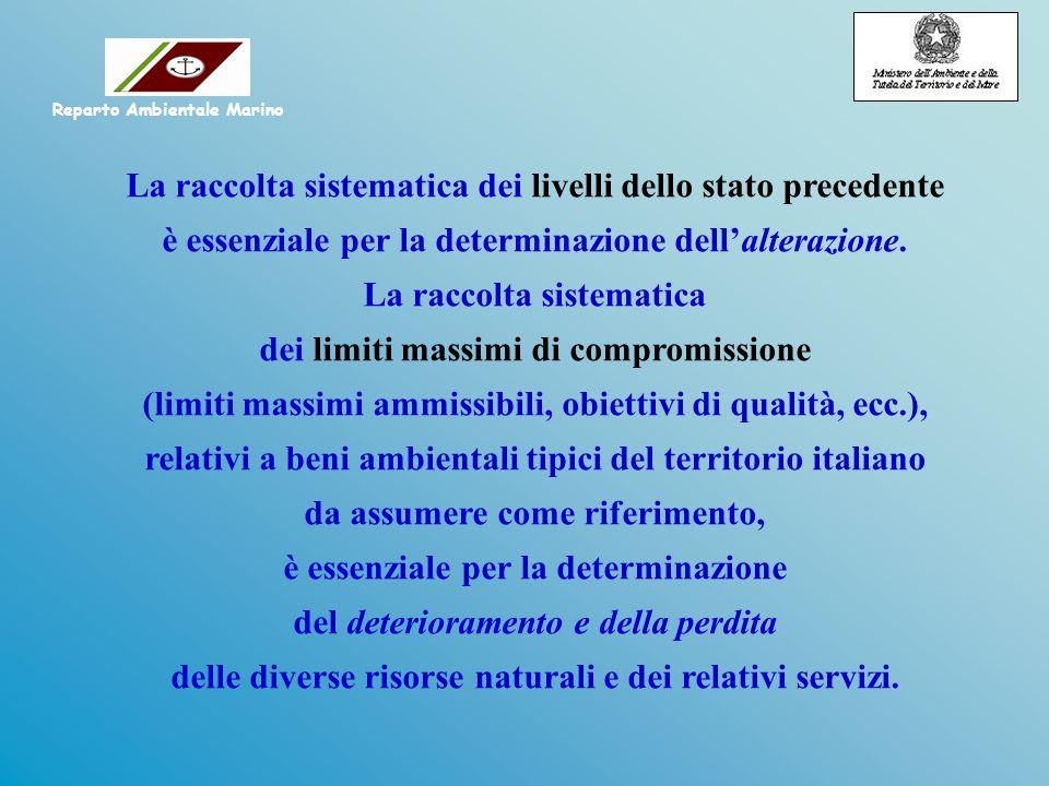 La raccolta sistematica dei livelli dello stato precedente è essenziale per la determinazione dellalterazione.