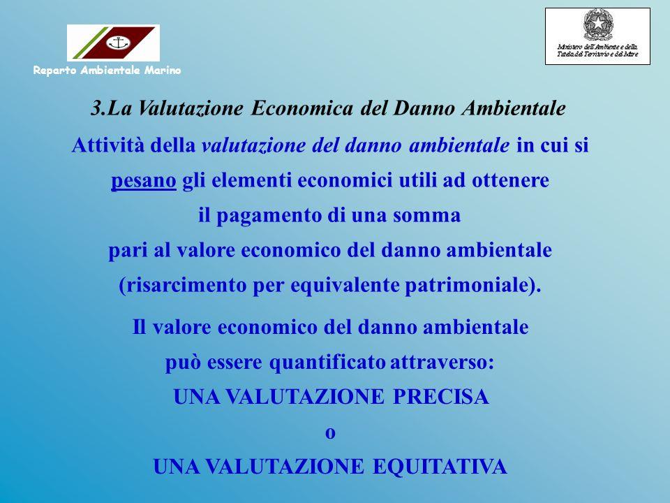 Il valore economico del danno ambientale può essere quantificato attraverso: UNA VALUTAZIONE PRECISA o UNA VALUTAZIONE EQUITATIVA Attività della valut