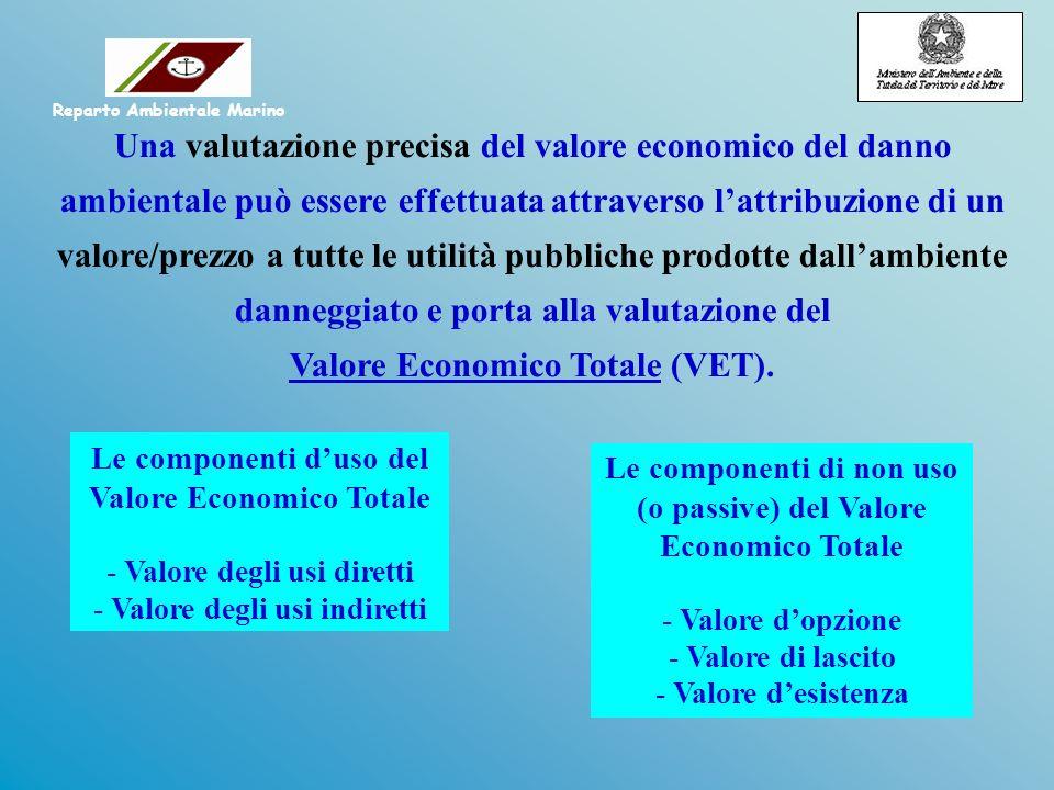 Le componenti di non uso (o passive) del Valore Economico Totale - Valore dopzione - Valore di lascito - Valore desistenza Una valutazione precisa del