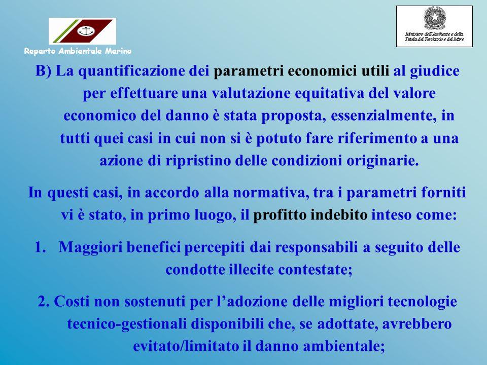 B) La quantificazione dei parametri economici utili al giudice per effettuare una valutazione equitativa del valore economico del danno è stata propos