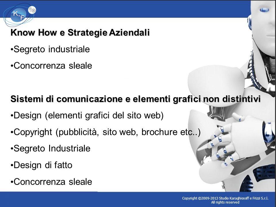 Know How e Strategie Aziendali Segreto industriale Concorrenza sleale Sistemi di comunicazione e elementi grafici non distintivi Design (elementi graf
