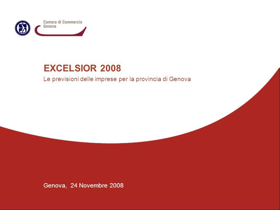 EXCELSIOR 2008 Le previsioni delle imprese per la provincia di Genova Genova, 24 Novembre 2008