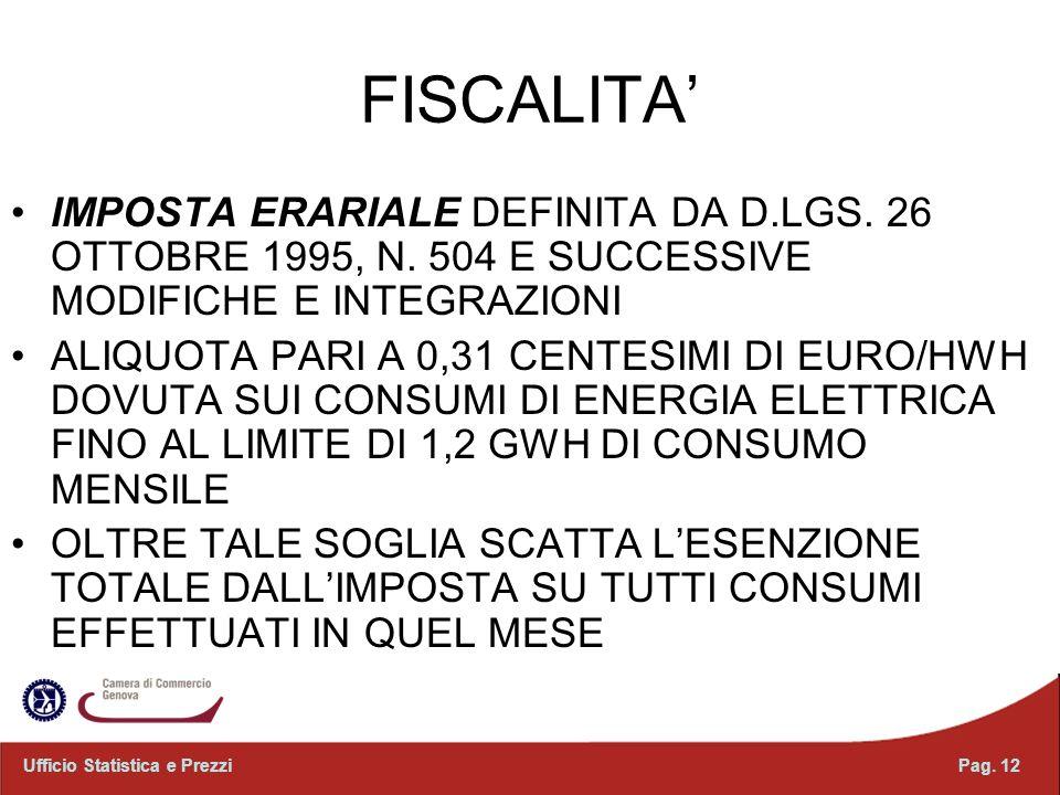 FISCALITA IMPOSTA ERARIALE DEFINITA DA D.LGS.26 OTTOBRE 1995, N.