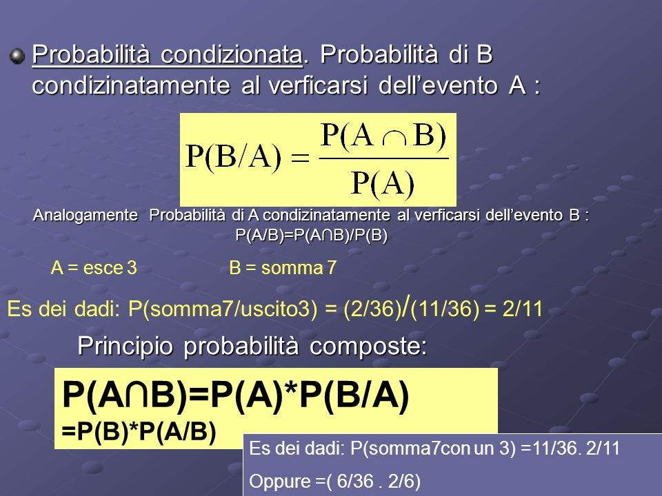 Probabilità condizionata e indipendenza stocastica Esempio: unurna contiene 15 palline rosse e 5 nere.