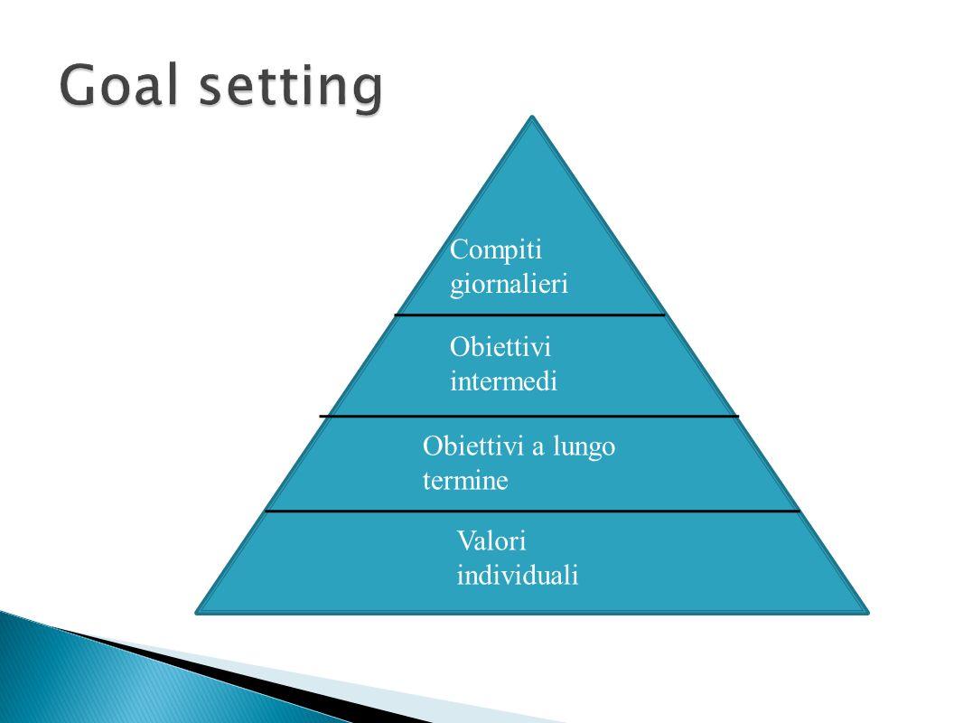 Valori individuali Obiettivi intermedi Obiettivi a lungo termine Compiti giornalieri