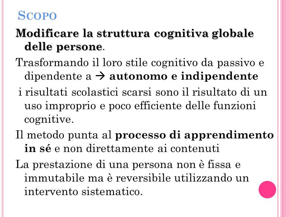 S COPO Modificare la struttura cognitiva globale delle persone Modificare la struttura cognitiva globale delle persone.