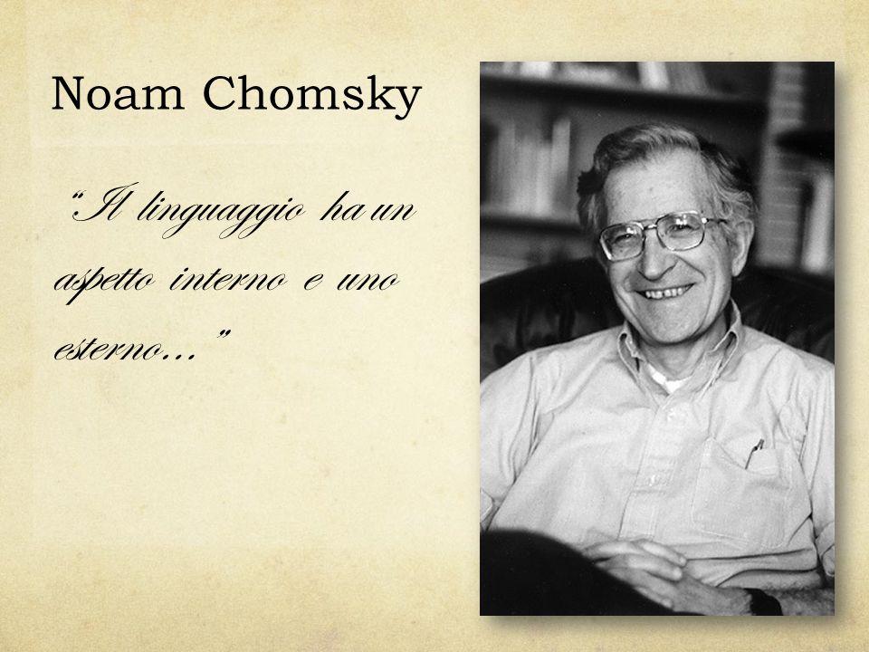 Noam Chomsky Il linguaggio ha un aspetto interno e uno esterno…