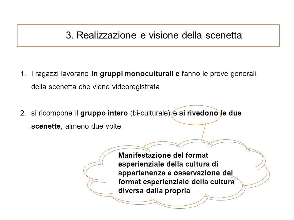 3. Realizzazione e visione della scenetta Scenetta - Italiani Scenetta - Cinesi