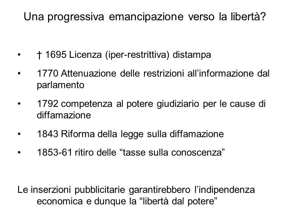 Una progressiva emancipazione verso la libertà.