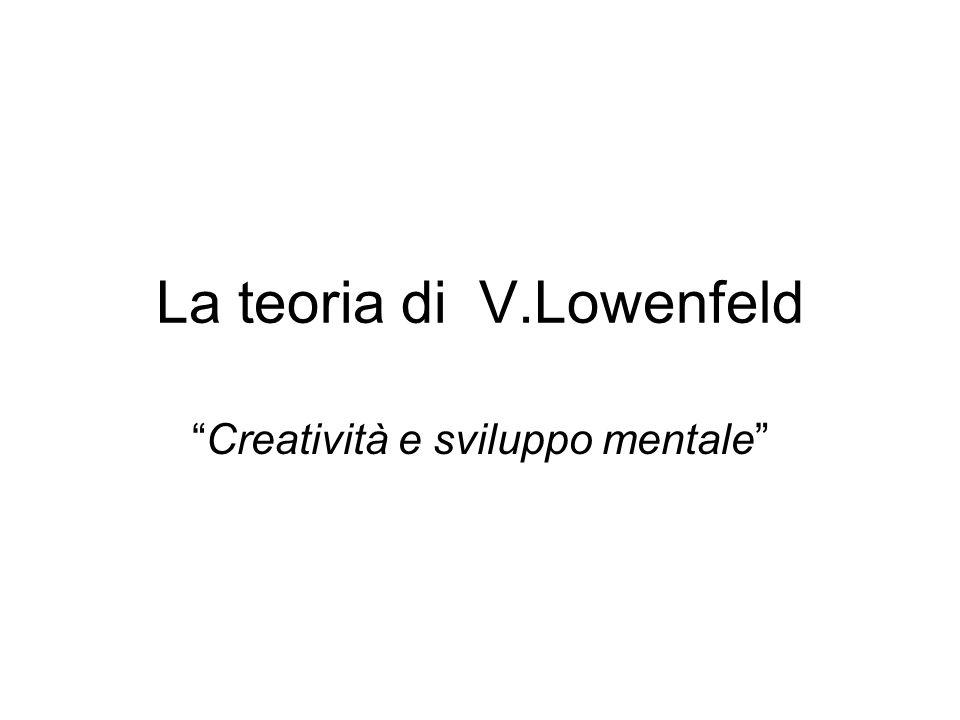 La teoria di V.Lowenfeld Creatività e sviluppo mentale