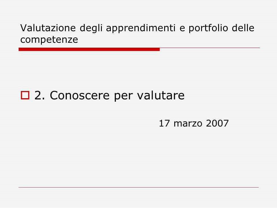 Valutazione degli apprendimenti e portfolio delle competenze 3.