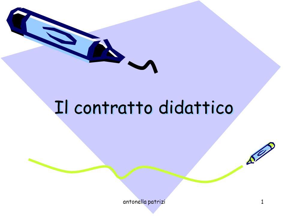 antonella patrizi1 Il contratto didattico