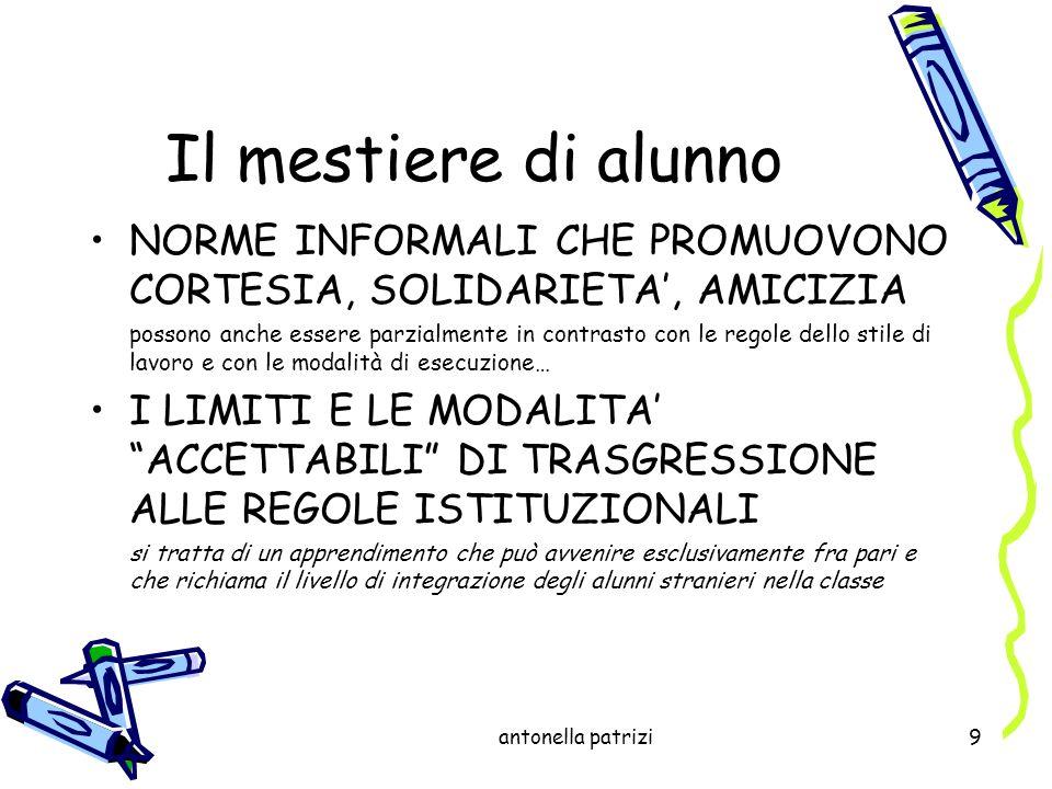 antonella patrizi30 In Italia la riflessione di Gardner ha trovato ampio spazio nei Orientamenti per la scuola materna del 1991 (campi desperienza educativa, gli angoli delle esperienze).