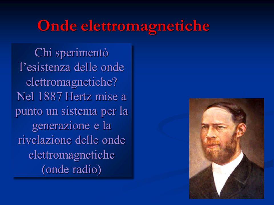 Onde elettromagnetiche Maxwell teorizzò che la luce è unonda elettromagnetica. In ogni istante il rapporto tra il modulo del campo elettrico ed il mod