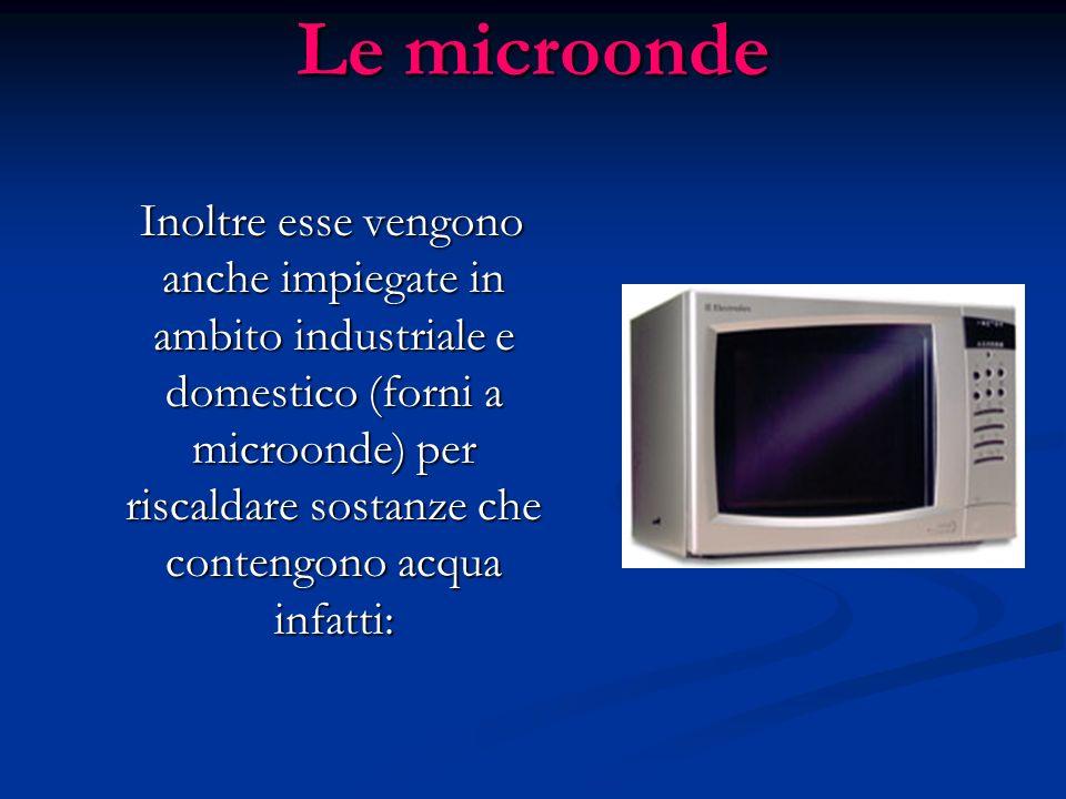 Tra le onde a radio frequenza, ci sono anche le microonde, le quali sono in grado di attraversare latmosfera e, per questo, esse sono utilizzate per l