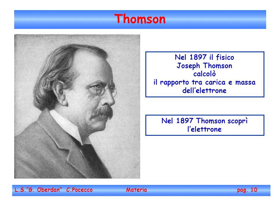 Thomson L.S.G.Oberdan C.Pocecco Materia pag.