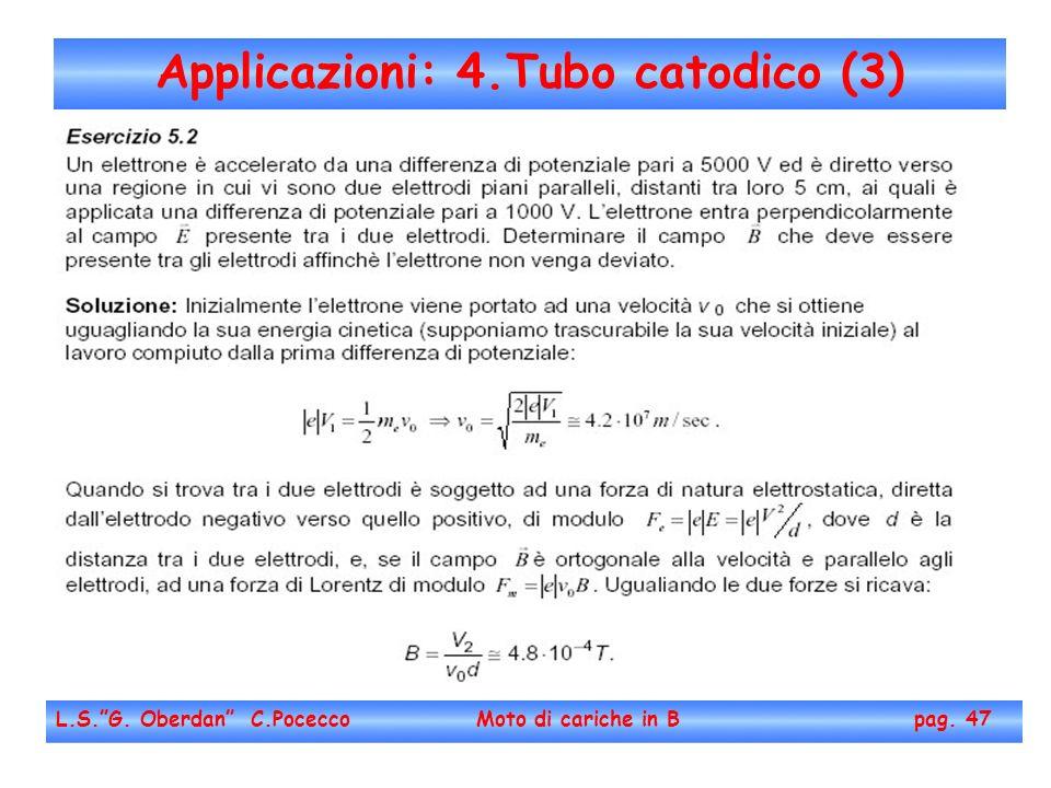 Applicazioni: 4.Tubo catodico (3) L.S.G. Oberdan C.Pocecco Moto di cariche in B pag. 47