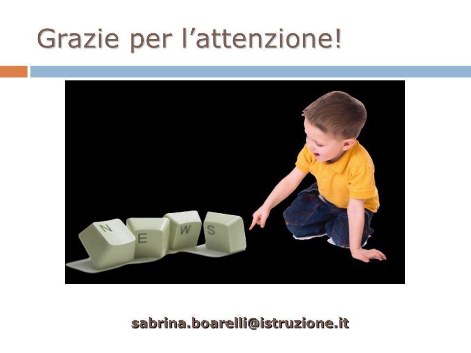 Grazie per lattenzione! sabrina.boarelli@istruzione.it