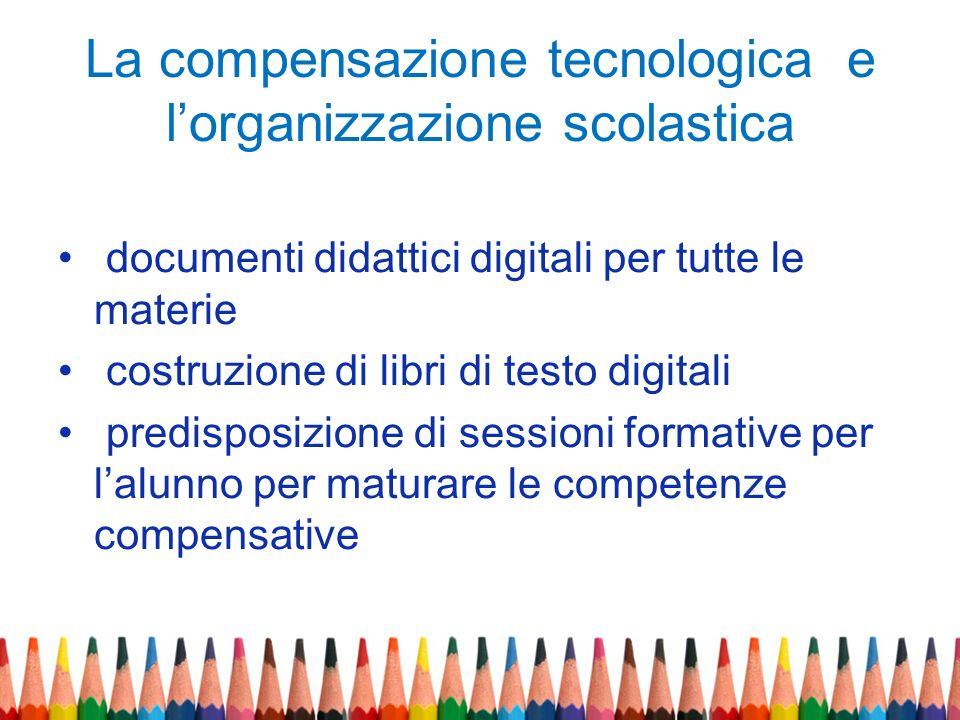 La compensazione tecnologica e lorganizzazione scolastica documenti didattici digitali per tutte le materie costruzione di libri di testo digitali pre