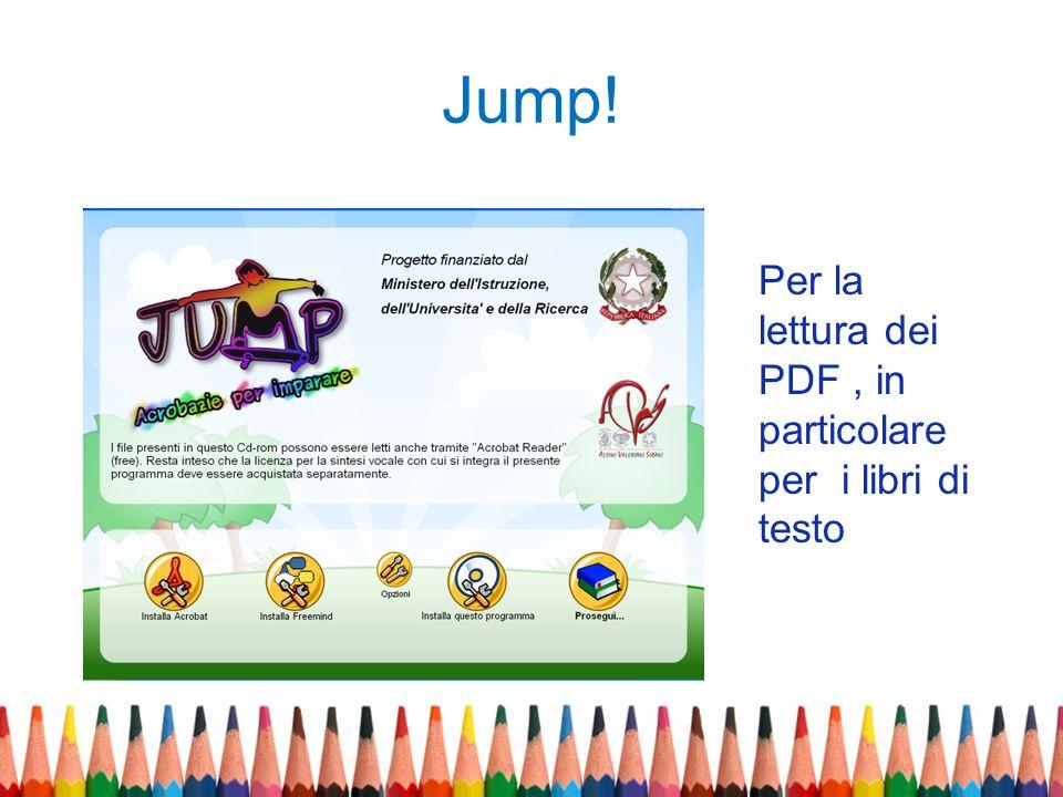 Jump! Per la lettura dei PDF, in particolare per i libri di testo