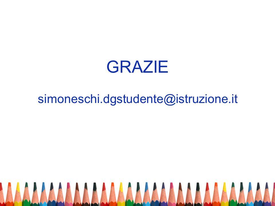 GRAZIE simoneschi.dgstudente@istruzione.it