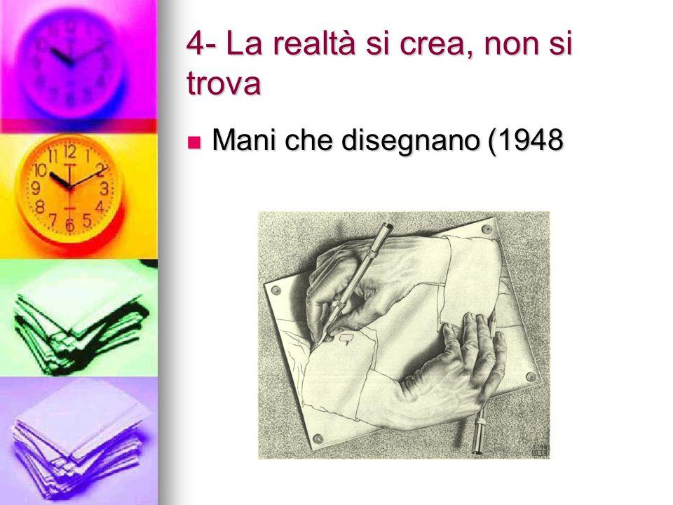4- La realtà si crea, non si trova Mani che disegnano (1948 Mani che disegnano (1948