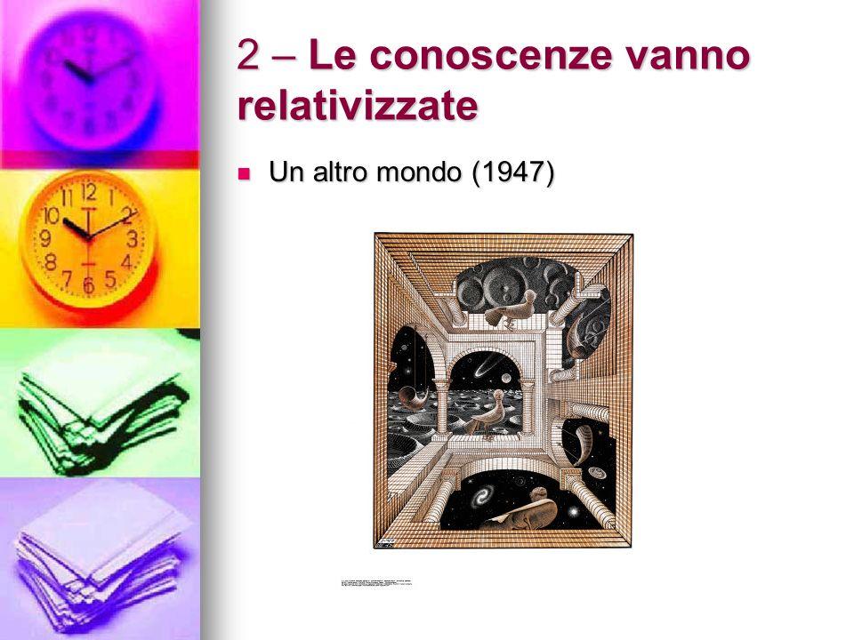 Le conoscenze vanno relativizzate il significato di qualsiasi cosa dipende dalla prospettiva nella quale ci mettiamo (anche storico-ambientale).