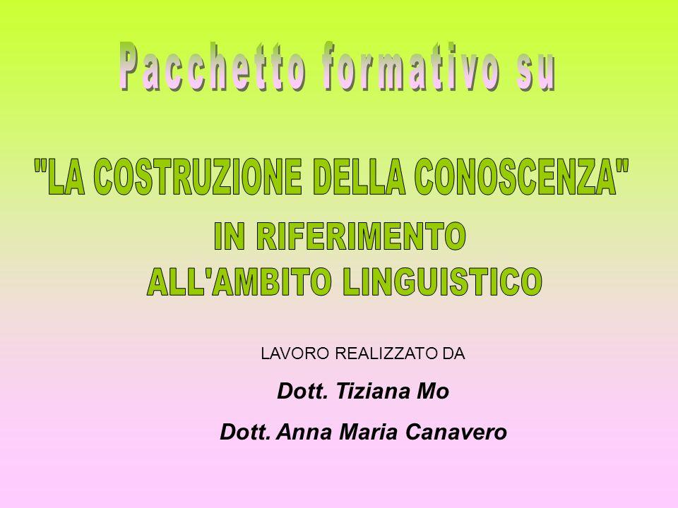 LAVORO REALIZZATO DA Dott. Tiziana Mo Dott. Anna Maria Canavero