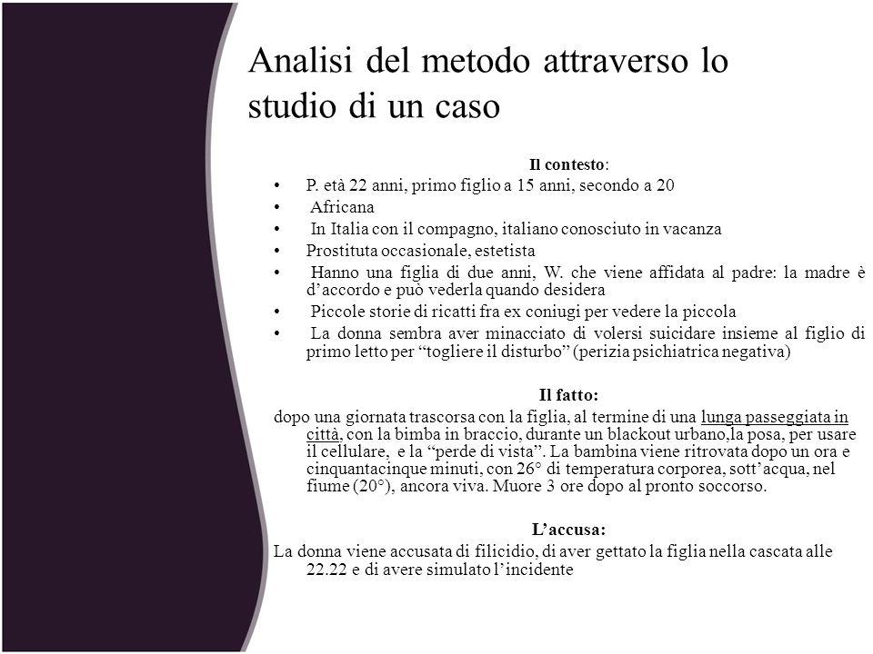 Analisi del metodo attraverso lo studio di un caso Il contesto: P. età 22 anni, primo figlio a 15 anni, secondo a 20 Africana In Italia con il compagn