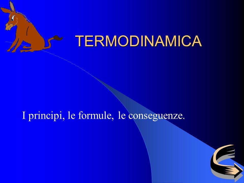 TERMODINAMICA I principi, le formule, le conseguenze.
