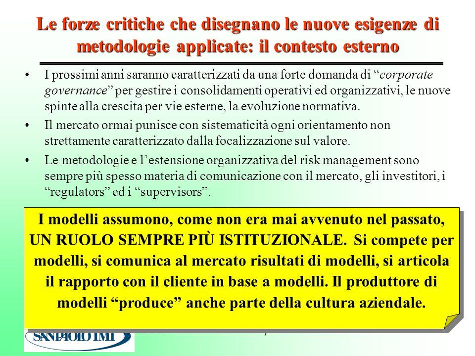RISK MANAGEMENT: le forze critiche sul piano macro-organizzativo una stilizzazione.