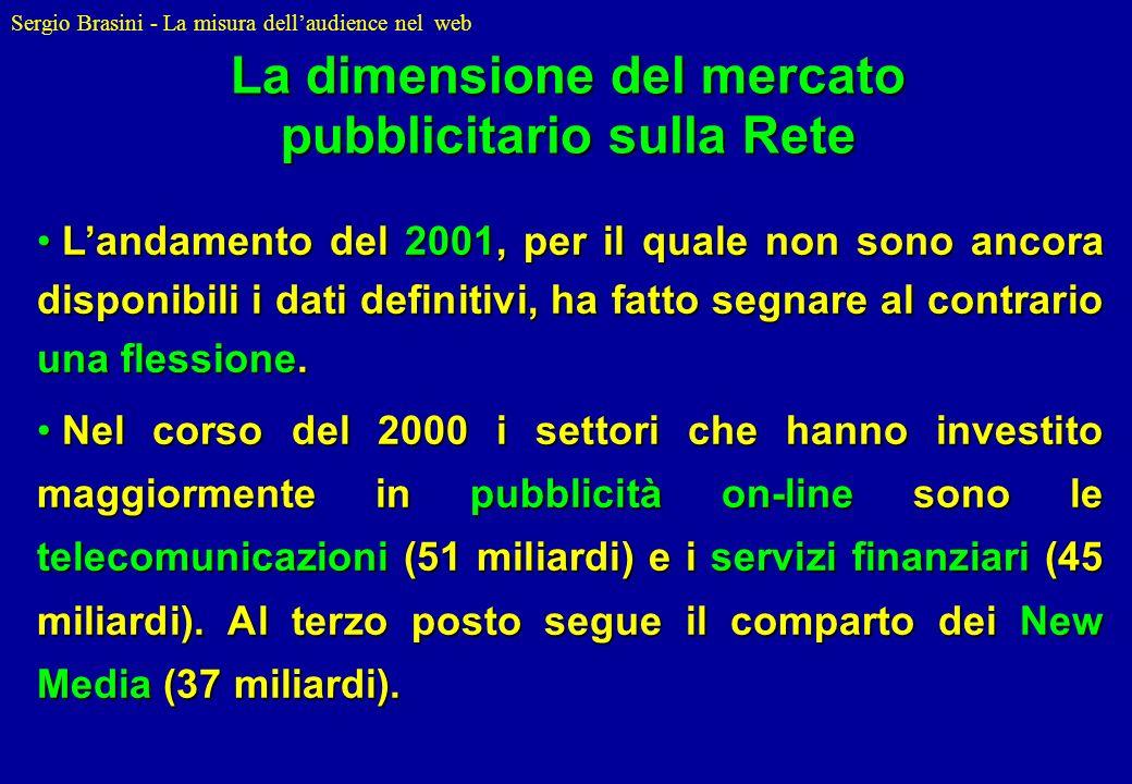 Sergio Brasini - La misura dellaudience nel web Landamento del 2001, per il quale non sono ancora disponibili i dati definitivi, ha fatto segnare al c