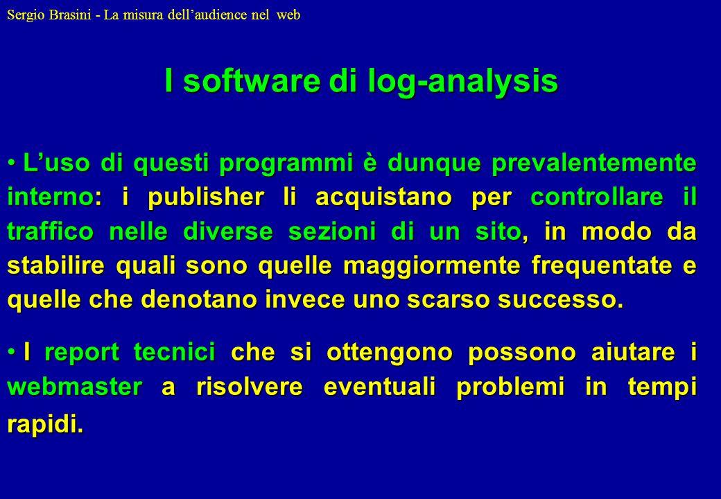 Sergio Brasini - La misura dellaudience nel web Luso di questi programmi è dunque prevalentemente interno: i publisher li acquistano per controllare i