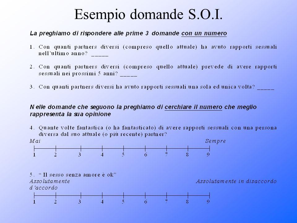 Esempio domande S.O.I.