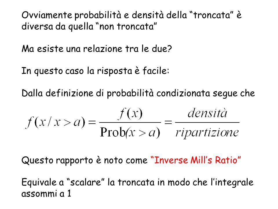 Esempio: Distribuzione normale Dove densità della N(0,1) ripartizione della N(0,1)