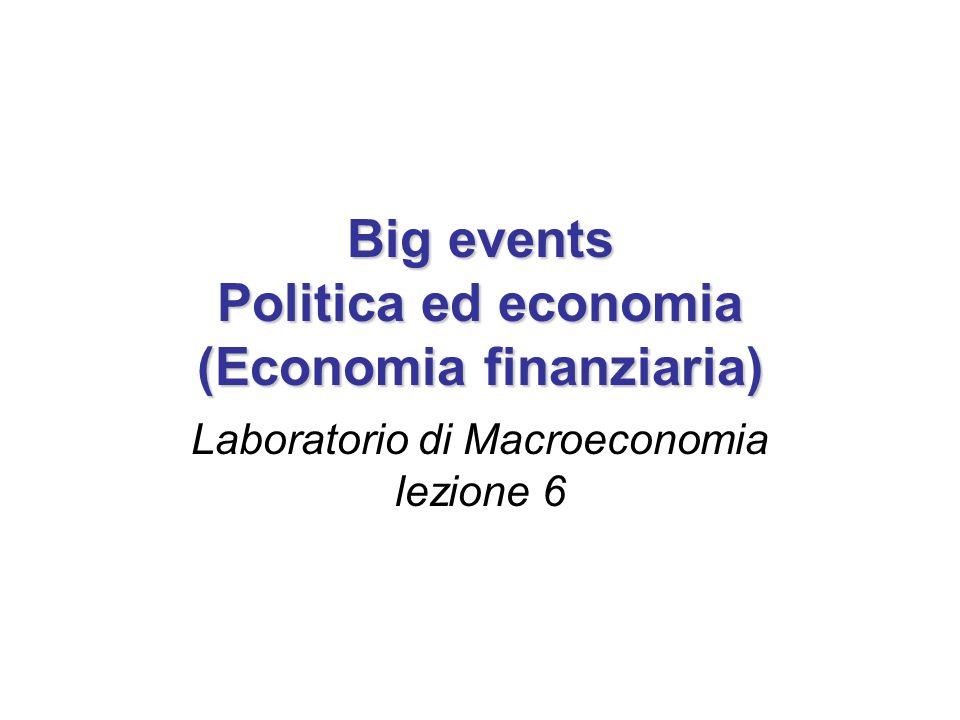 Big events Politica ed economia (Economia finanziaria) Laboratorio di Macroeconomia lezione 6