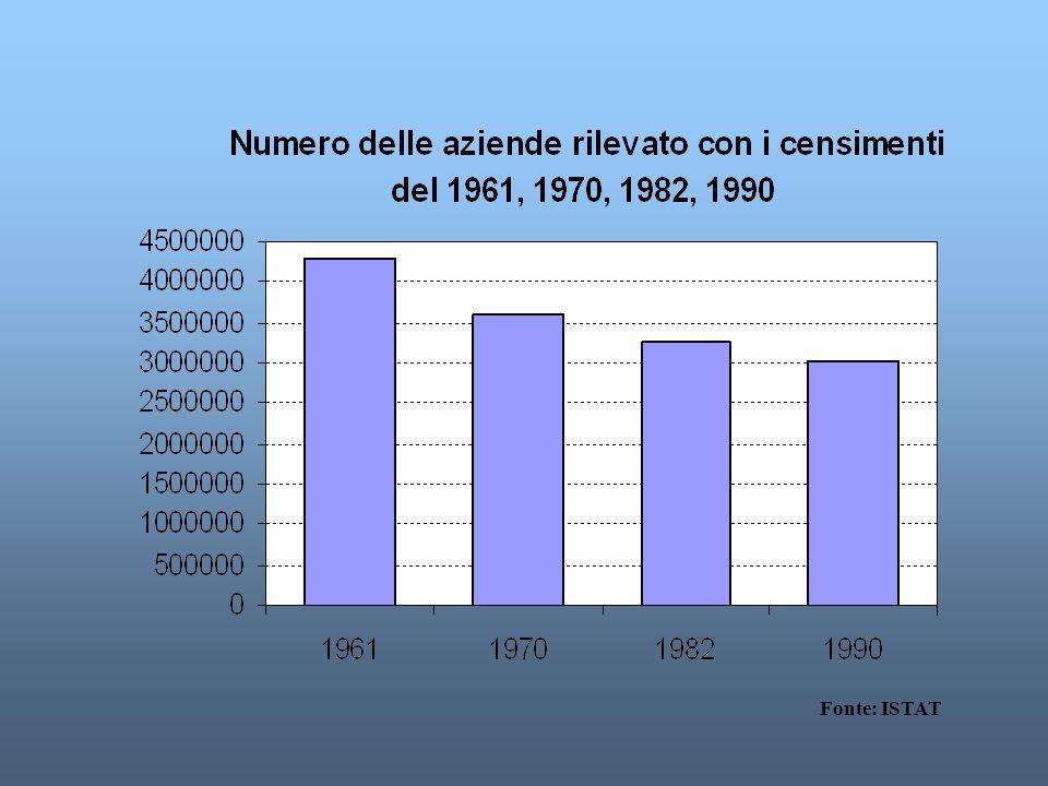 IL CENSIMENTO GENERALE DELLAGRICOLTURA Ha come oggetto lenumerazione di tutte le unità produttive dellagricoltura e la rilevazione delle principali ca