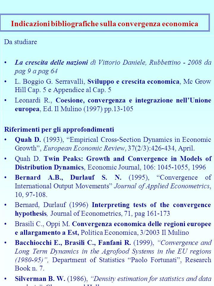 Da studiare La crescita delle nazioni di Vittorio Daniele, Rubbettino - 2008 da pag 9 a pag 64 L.