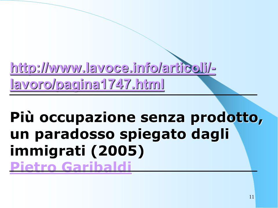 11 http://www.lavoce.info/articoli/- lavoro/pagina1747.html http://www.lavoce.info/articoli/- lavoro/pagina1747.html Più occupazione senza prodotto, un paradosso spiegato dagli immigrati (2005) Pietro Garibaldi Pietro Garibaldi http://www.lavoce.info/articoli/- lavoro/pagina1747.html Pietro Garibaldi