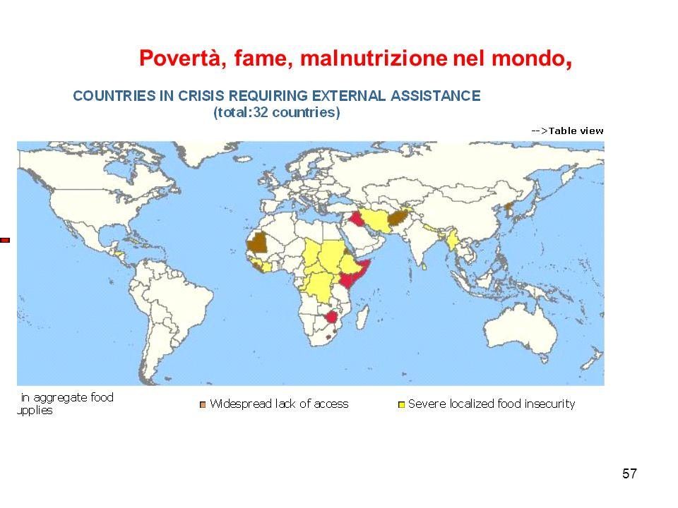 57 Povertà, fame, malnutrizione nel mondo,