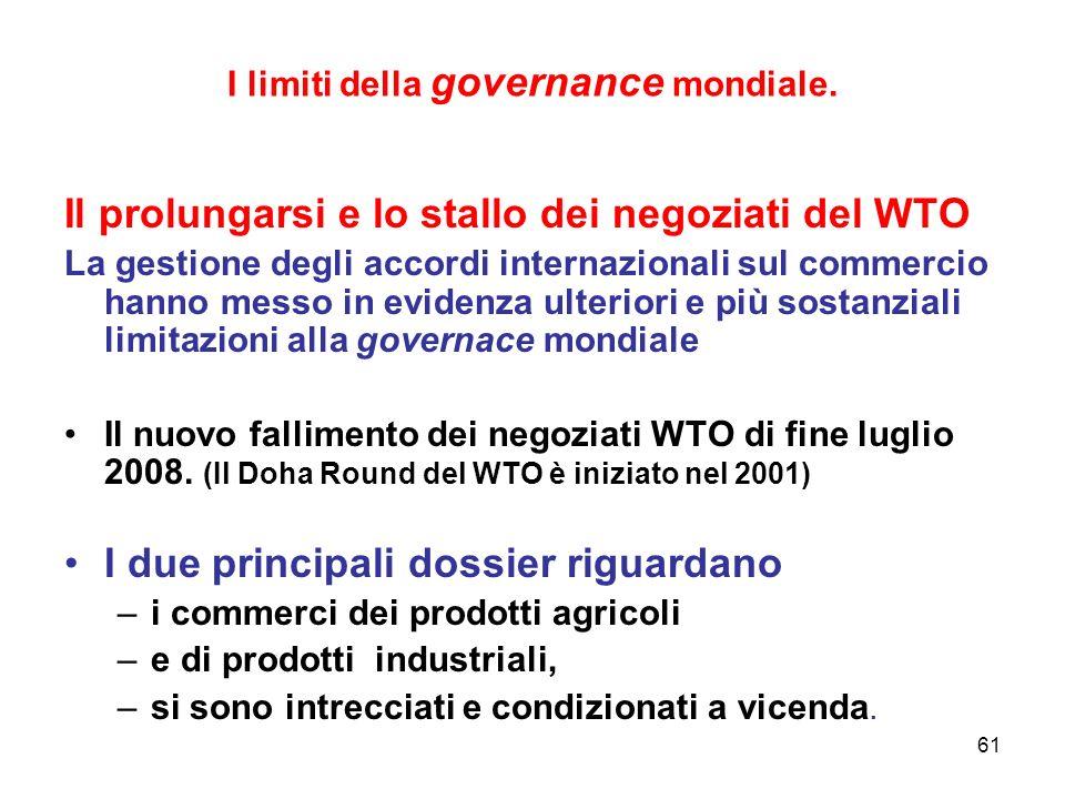 61 I limiti della governance mondiale.