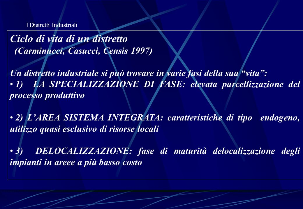 I Distretti Industriali Local Production Systems in Europe: Rise or Demise.