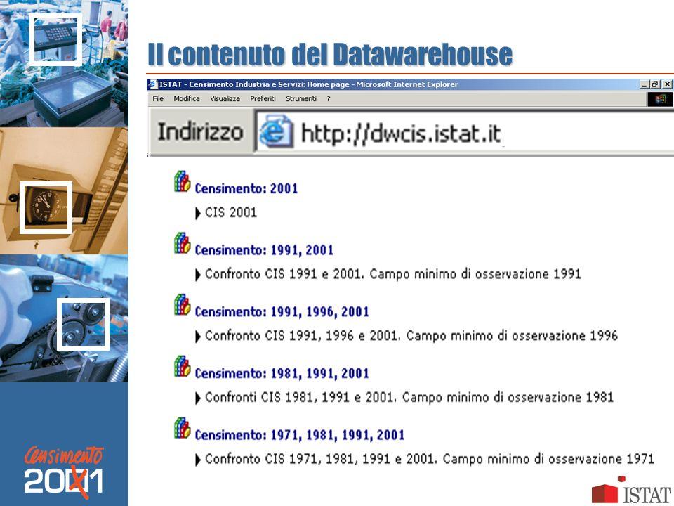 Il contenuto del Datawarehouse