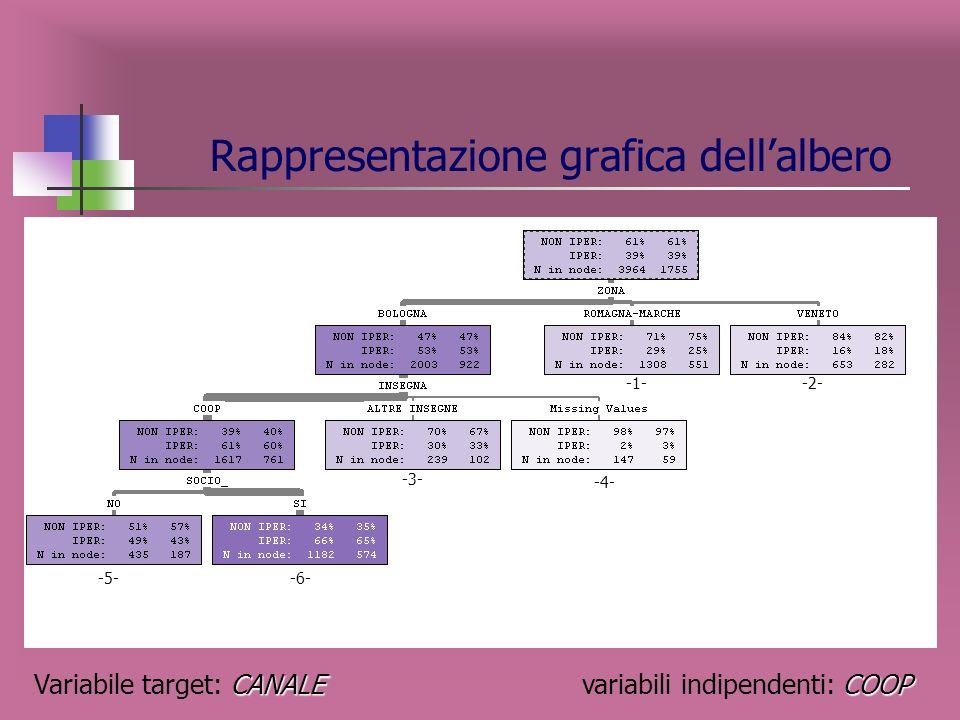 Matrice di confusione IPERNON IPER Totale IPER375 21.37% 307 17.49% 682 38.86% NON IPER 199 11.34% 874 49.80% 1073 61.14% Totale574 32.71% 1181 67.29%